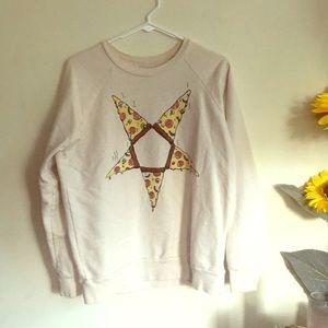 UNIF pizzagram crewneck sweater